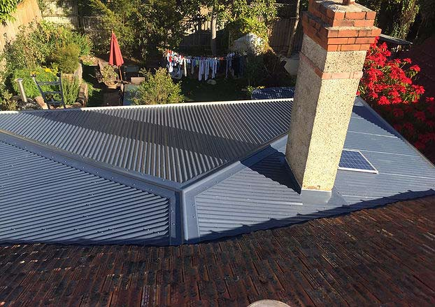 Metal re-roof after