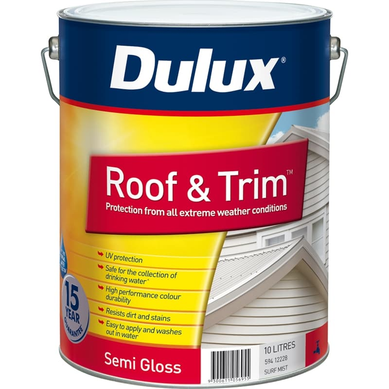 Dulux Roof & Trim 10L Surfmist Exterior Paint