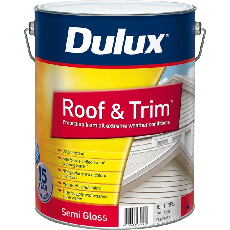Dulux Roof Trim 10l Surfmist Exterior Paint All Beaches Roofing