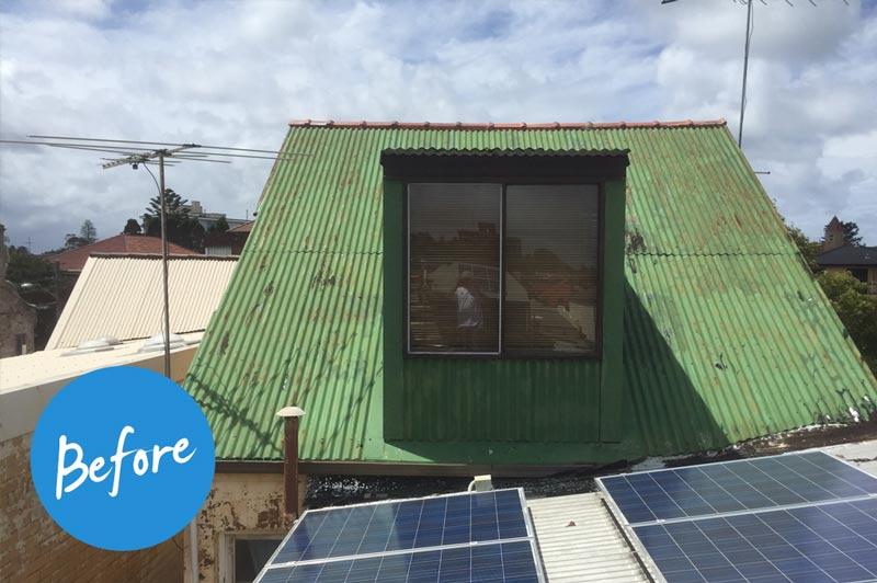 Roof Repair Job - Before