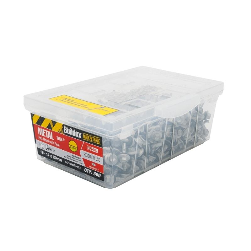 Buildex 12-14g x 20mm Metal Hex Hitek Roofing Screws
