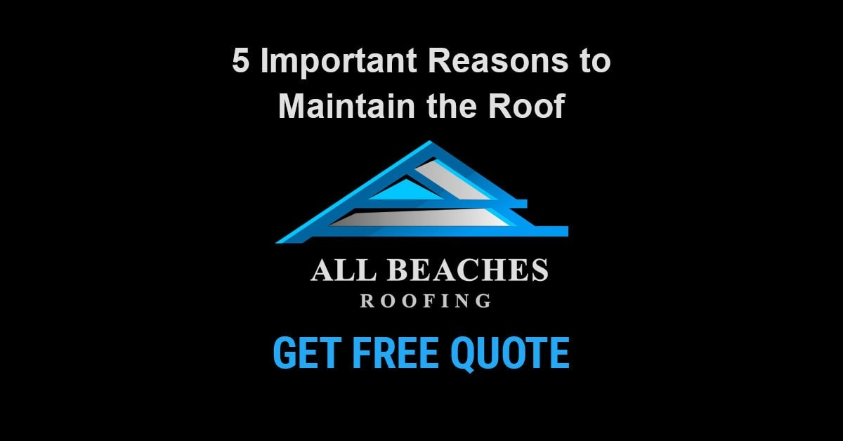 5 Important Reasons to Maintain the Roof